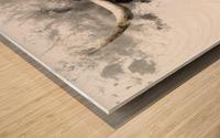 Highland Cow in Ink Impression sur bois