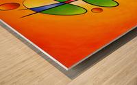 Tessanimia - colourful spring flower Wood print
