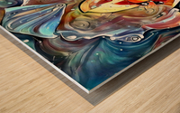 Trendy Abstract Wood print