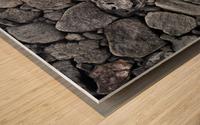 Lava brick Wood print