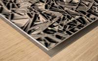 Natural Geometry Black And White Wood print