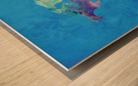 Artistic World Map III Wood print
