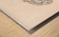 Line Drawing Wood print