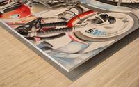 Moto Guzzi and BMW Front Wheels Wood print