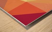 patterns polygon 3D (49) Wood print