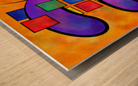 Desmelotipia - colourful cubes Wood print