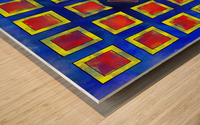 Verhomera - abstract cube worlds Wood print