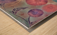 GERBERA DAISY SUMMER MEADOW PRINT Wood print