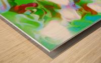 Green Glass Window - multicolor green abstract swirl wall art Wood print
