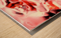 Super Charged - red orange pink abstract swirls wall art Wood print
