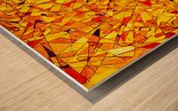 ABSTRACT SHAPES 09 Wood print