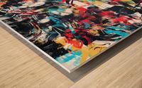 Abstract Flow II Wood print