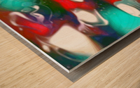 Cherries Limes & Blueberries - multicolor swirls and spots abstract wall art Wood print