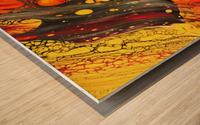 Retrospective  Wood print
