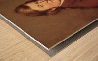 Painting a miniature Wood print