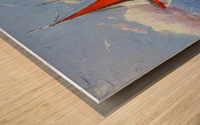 Sailboats in the sea Wood print