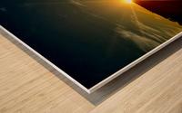Glinting horizon Wood print