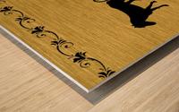 Gold illustration for interior decoration 2 Wood print