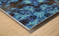 Kaleidoscope Burst of Blue  Wood print