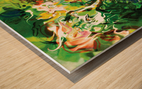 green fluid abstract Wood print
