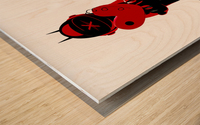 Black Cozmo Diablo Wood print