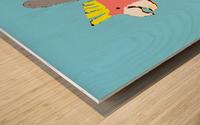Happy Galah - Blue Wood print