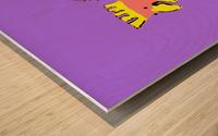 Laughing Galah - Purple Wood print