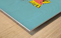 Laughing Galah - Blue Wood print