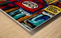 SCHWARTZ S DELI MONTREAL MONTREAL WINTER SCENE PAINTING  Wood print