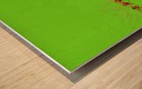 Lake Sunset - Green Wood print
