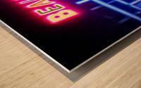Neon Wood print