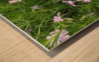 Purple Wild flowers Wood print