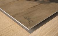 At the Café Châteaudun Wood print
