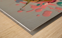Painted Roses.04 Wood print