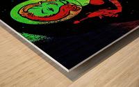retro space hotttie Wood print