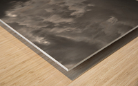 Night Shapes Wood print
