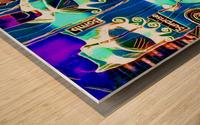 neon babe Wood print