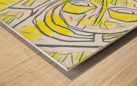 yellow girl Wood print