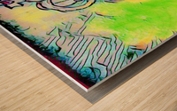 saint abstract Wood print