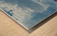 Infrared River Wood print
