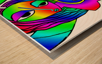 el camino rainbow Wood print
