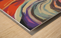 Abstract Composition 744 Wood print