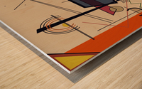 Abstract Composition 522 Wood print