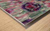 Multicolor Abstract Floral  Wood print