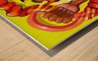CHAD Wood print