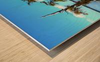 Reflect Much Wood print