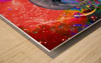 Dolphin Color Splash Wood print