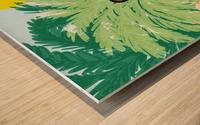 Water Yoga Wood print