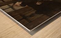 En retenue Wood print