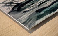 Serenity in Ink Wood print